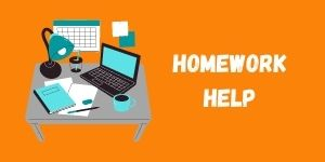 "An icon that leads to the internal webpage ""Homework Help"""