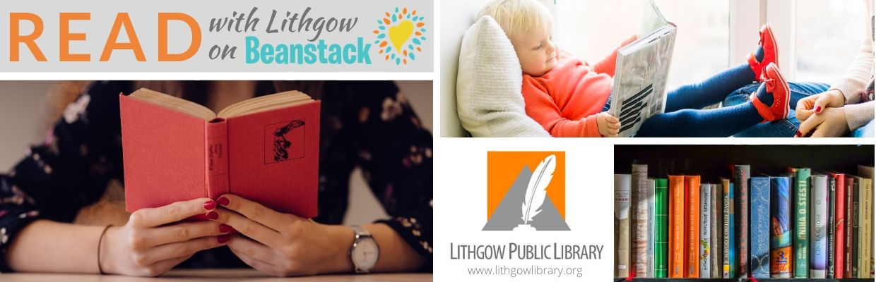 Banner for Read with Lithgow on Beanstack. Includes link to the library's Beanstack portal.