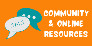 Icon for community and online resouces that links to internal webpage that includes links to area and national organizations that support teens from all backgrounds.